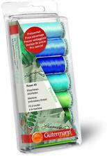 Machine Embroidery Gutermann Creativ Rayon40 PARADISE Thread Set-7 Reels of 200m