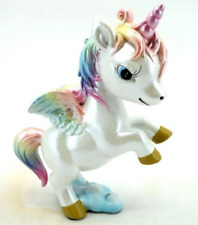 More details for novelty cute rearing rainbow unicorn fantasy figurine statue sculpture figure