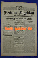 BERLINER TAGEBLATT (6.9.1916): Neue Kämpfe im Gebiet von Valona [Vlora/Albanien]