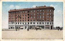 c.1915 Stores Hunter St. Building Southern Bvd.& E. 163rd St. Bronx NY post card