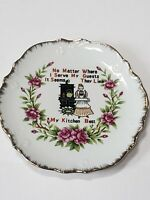 Vintage No Matter Where I Serve My Guests decorative hanging Plate