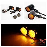 Retro Motorcycle Bullet LED Turn Signal Light Amber Lamp Indicator For Harley
