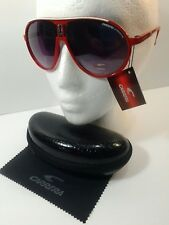 Carrera Men & Women's Red&WhiteLine Retro Sunglasses+Carrera Case Made in Italy!