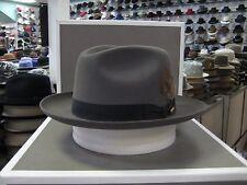 STETSON SUTLEY CARIBOU FUR FELT FEDORA DRESS HAT