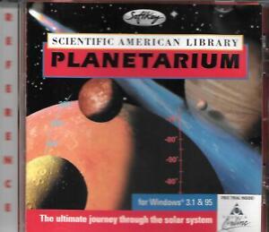 SCIENTIFIC AMERICAN LIBRARY PLANETARIUM 1996 CD-ROM WINDOWS 3.1 & 95