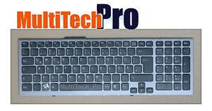 DE Tastatur f. SONY PCG-81113L/M PCG-81114L PCG-81115L Series mit Grau Rahmen