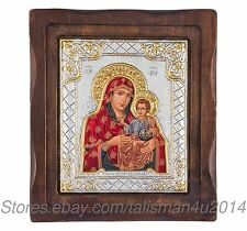 """Orthodox Icon Jerusalem Virgin Mary Jesus Blessed Hand Painted Religious Icon 6"""""""