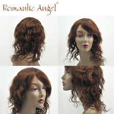 Afro American Soft Natural Wave Cheap Wigs 100% Indian Human Hair Machine Made