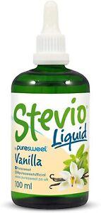 Stevio® Stevia Liquid Drops 100ml, Vanilla Flavour, 100% Natural, Zero Calorie