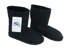 Classic Midcalf Ugg Boots Black Australia Sheepskin Short Wool Boot New