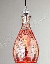Horchow RED Mercury GLASS Mini Pendant Hanging Light Sardinia NEIMAN MARCUS Aqua