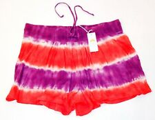 C&C CALIFORNIA Tie Dye Swing SHORTS Drawstring VINTAGE SAHARA Striped POCKETS S