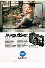 PUBLICITE ADVERTISING 054 1981  MINOLTA  apprail photo le HI-MATIC AF 2
