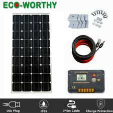 100W Mono Solar Panel Kit 100W 12V Off Grid Battery Charger Caravan RV Camping