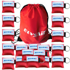 100 Pcs CPR Mask One Way Valve Resuscitator Face Shields For First Aid Training