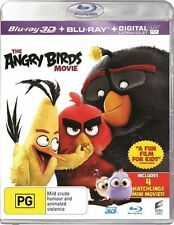 The Angry Birds Movie 3D (Blu-ray 3-D, 2016, 2-Disc Set) NEW