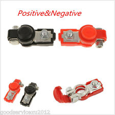 2 Pc High Quality Positive & Neutral Car Adjustable Battery Terminal Clamp Clips