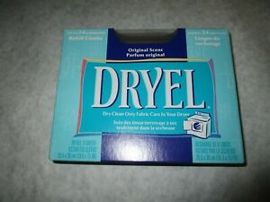 DRYEL Dry Clean Original Scent 6 Refill Dry Cleaning Cloths NEW