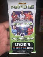 2020-21 Panini Prizm Premier League EPL Soccer Value Fat Cello 15 CARD Pack *UK*