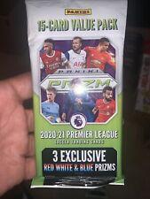 More details for 2020-21 panini prizm premier league epl soccer value fat cello 15 card pack *uk*