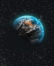 Earth Planet - World Universe Space Portrait Wall Art Poster / Canvas Pictures
