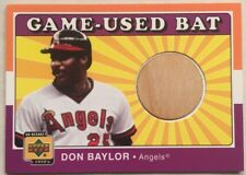 2001 Upper Deck UD Decade 1970s Game-Used Bat - Don Baylor / California Angels