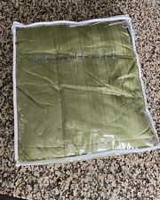 """New! Frontgate Green Goose Down Throw / Blanket 50"""" X 70"""""""