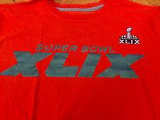 NIKE Super Bowl XLIX 49 Reflective Orange T shirt NFL football Patriots Men's M