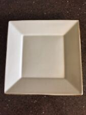 """Pottery Barn ASIAN SQUARE PUTTY (WHITE) Dinner Plate 10"""" x 10"""""""