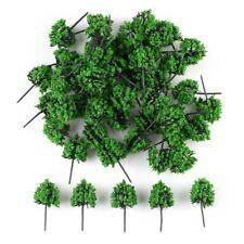 50pcs N HO Gauge modèle vert arbres Train Set décor paysage 7cm Diorama