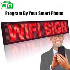1m LED SIGN RED WiFi Control Programmable Moving Message Scrolling Display 100cm
