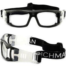 Men Women Sport Protection Goggles Tennis Prescription Glasses Wrap Around Black