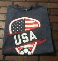 FIFA 2014 World Cup Brasil Soccer Team USA T-Shirt Men's Size Small
