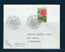 FRd enveloppe Fleurs  Floralies de Bretagne  56 Lorient    1968