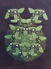 RARE Torche Heavy Metal T-Shirt Men's Medium - Green Bugs!