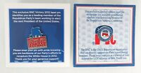 Republican National Committee (RNC) Lapel Pins - Lot of 2 (2008, 2012)