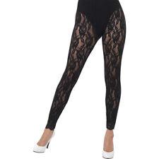 Black 80s Lace Leggings