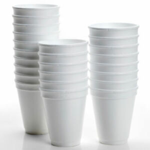 100x POLYSTYRENE FOAM CUPS 10oz 300ml HOT DRINKS INSULATED (CUPS ONLY NO LIDS)