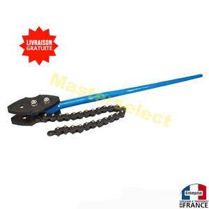 Clé à chaîne pour tourner les tuyaux grand diamètre format