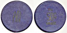 """Clay Poker Chip: """"A N"""" One Side // """"Good For 50c In Trade"""" The Other"""