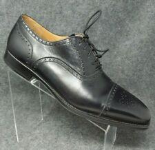 Magnanni Men's Leather Black Dress Shoes Baroque Cap Toe Lace Up Size 13 NEW!