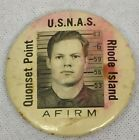 VINTAGE US NAVAL AIR STATION N.A.S. QUONSET POINT R.I. AFIRM ID PIN BADGE?