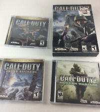 Call of Duty PC FPS Games Lot -Game of Year Deluxe Edition, 2 & 4 Modern Warfare