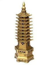Chinese Pagoda Religion Tower Bronze Statue Decoration 9-Tier