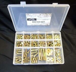 334PC Grade 8 Fine Thread Bolt/Nut And Washer Assortment With Plastic Box