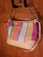 NWT Coach Multi Color Stripe Handbag 19389 Shoulderbag, Crossbody, New