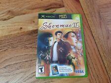 Microsoft Xbox Game * SHENMUE II + BONUS FILM * Complete Retro Rare