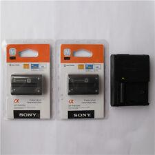 2x NP-FM500H Battery & BC-VM10 Charger for Sony A350 A850 A900 A550 A500 A700 A4