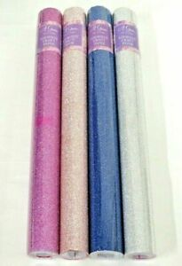 Self Adhesive Roll Glitter Colours Arts Craft Paper Blue Pink Silver Peach Sheet