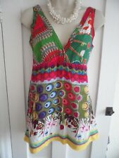 Ladies size 8/10 Me & You colour mix floral summer tunic sleeveless summer top